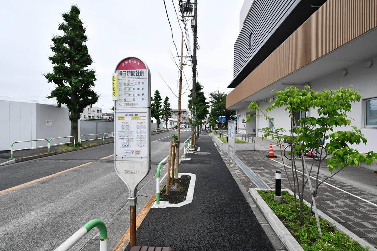 朝日新聞社前バス停
