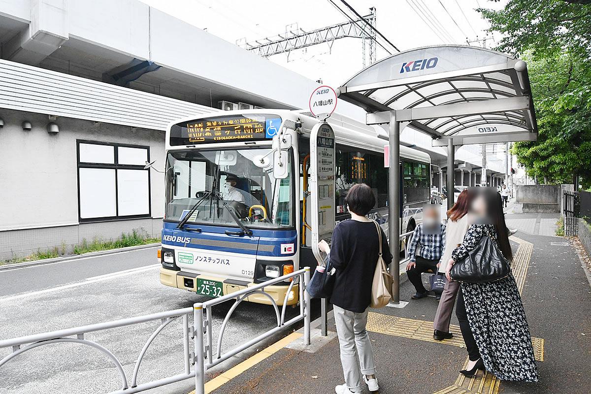 八幡山駅バス停